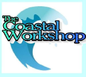 the coastal workshop, ceramic tile plates