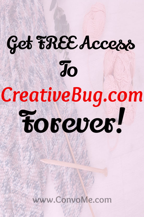 get free access to creativebug.com