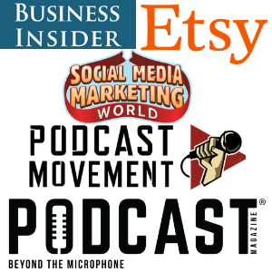 etsy conversations podcast featured in business insider, etsy blog, social media marketing world, podcast magazine, and podcast movement
